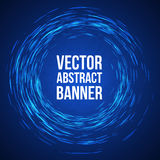 Blue Lights Swirl Background. Vector Royalty Free Stock Images
