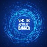 Blue Lights Swirl Background. Vector Stock Photos
