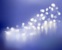 Blue lights. Vector illustration. Royalty Free Stock Photo