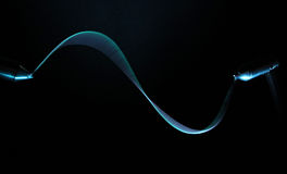 Blue ligth waves Stock Photography