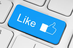 Blue like button Royalty Free Stock Photos