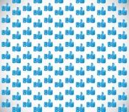 Blue like hand background image illustration Royalty Free Stock Image