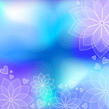 Blue and lilac background Stock Photography
