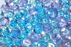 Blue and lilac crystal beads Stock Photos