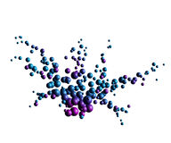 Blue lilac particles explosion Royalty Free Stock Photos
