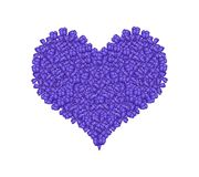Blue Lilac or Syringa Vulgaris in A Heart Shape Royalty Free Stock Image