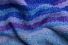 Blue lilac texture of fabric from a coverlet fragment. Blue lilac background made of cloth from a coverlet fragment Stock Photography