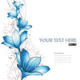 Blue lilies design Royalty Free Stock Photos