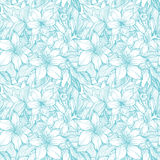 Blue lilies. Stylish vintage floral seamless pattern. EPS8 vector Royalty Free Stock Photography