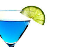 Blue and lime Stock Image