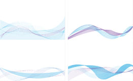 Blue line abstract background Stock Image