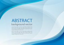 Blue line abstract background. Vector illustration Stock Photo