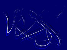 Blue line art. Vector illustration royalty free illustration
