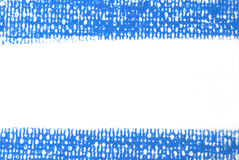 Blue line for background from oil pastels Stock Images
