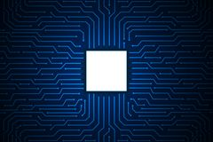 Blue line circuit board technology abstract background vector design for future computer business . Blue line circuit board technology on abstract background Royalty Free Stock Photos