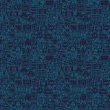 Blue Line codant le modèle sans couture Image stock