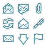 Blue line e-mail icons Stock Images
