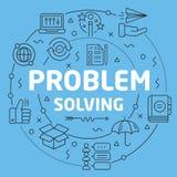 Blue Line okręgu ilustraci Płaski rozwiązywanie problemów royalty ilustracja