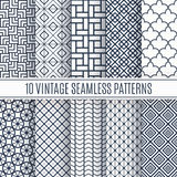 Blue line seamless patterns for universal background Stock Images
