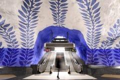 Blue Line tunnelbanastation T-Centralen Royaltyfri Bild