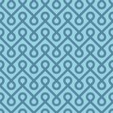 Blue Linear Weaved Seamless Pattern. Royalty Free Stock Photo