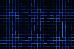 Blue lined background. Blue background with blue neon lines on dark background royalty free illustration