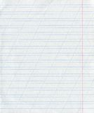 Blue Lined Paper Royalty Free Stock Images