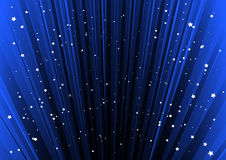 Blue lined space with stars Stock Photography