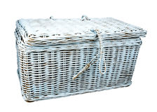 Blue linen chest Royalty Free Stock Photography