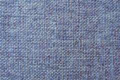 Blue linen textile - close up of fashion background. royalty free stock photo