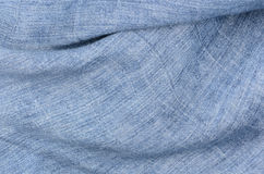 Blue linen texture background Royalty Free Stock Photo
