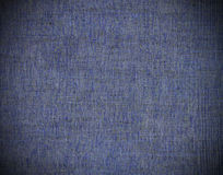 Blue linen. Texture background with vignette Stock Photography