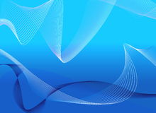 Blue Lines. Feel the line waves on a blue back Stock Image