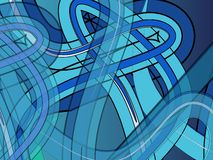 Blue lines. Blue design with lines and borders royalty free illustration