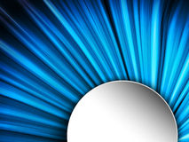 Blue Lines Background With White Frame Stock Image