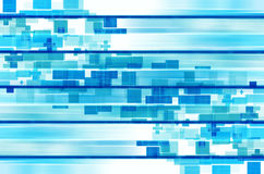 Blue lines and square abstract background. Royalty Free Stock Photos
