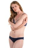 Blue lingerie Stock Images