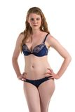 Blue lingerie Royalty Free Stock Photos