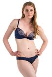 Blue lingerie Stock Photo