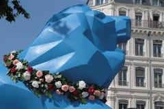 Blue Lion in Lyon Stock Photos