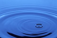 Blue liquid Stock Photography