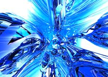 Blue Liquid Background Royalty Free Stock Images