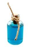 Blue liquid in the bottle Stock Photo