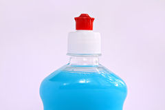 Blue liquid in bottle Royalty Free Stock Image