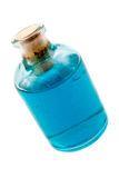 Blue liquid in the bottle Stock Photography