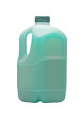 Blue liquid for car in canister Royalty Free Stock Photos