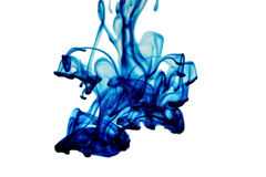 Blue liquid form Stock Images