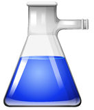 Blue liquid in glass flask Stock Image