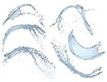 Blue liquid splash isolated on white background Stock Photo