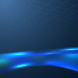 Blue liquid swoosh on a dark background Royalty Free Stock Photography